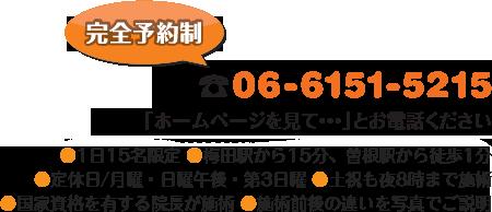 電話:06-6151-5215